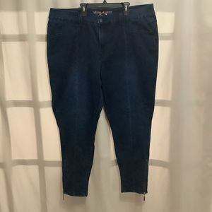 Melissa McCarthy Seven7 pencil zipper bottom jeans
